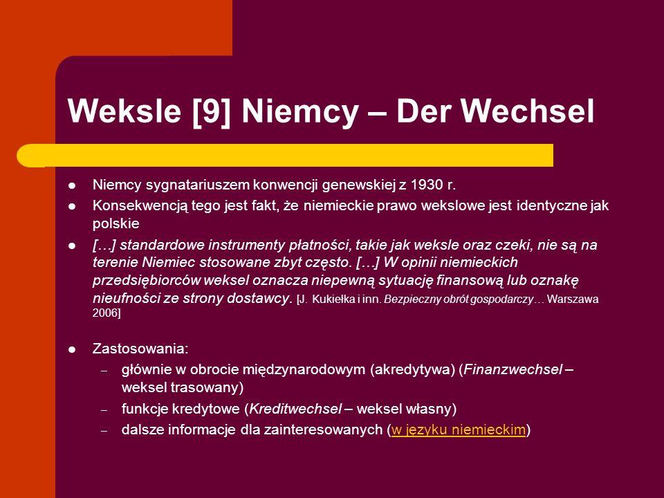 Weksle [9] Niemcy – Der Wechsel